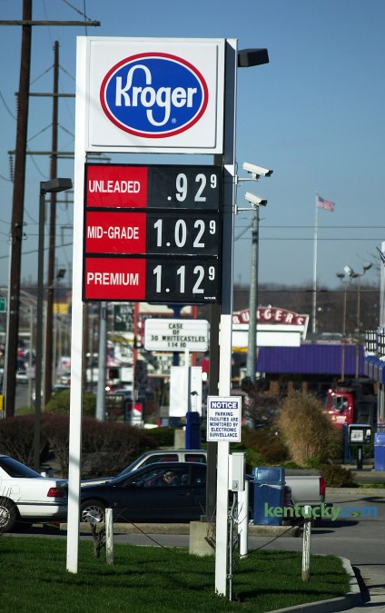 Gas prices December 20,2001 at the Kroger on New Circle  Road  in Lexington.