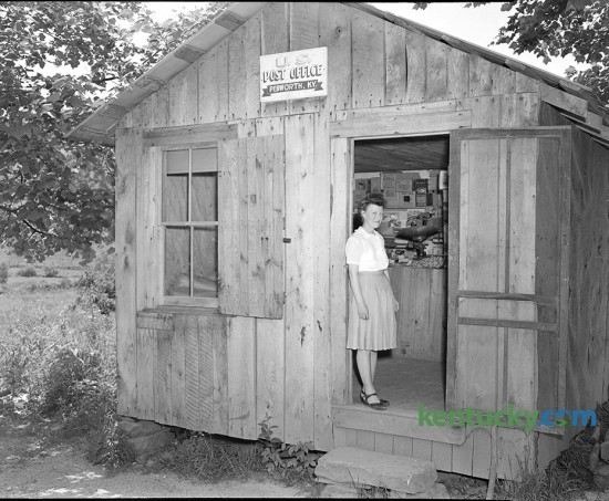 Post office in Owsley county, believed to be the smallest post office in the United States. June, 1946.