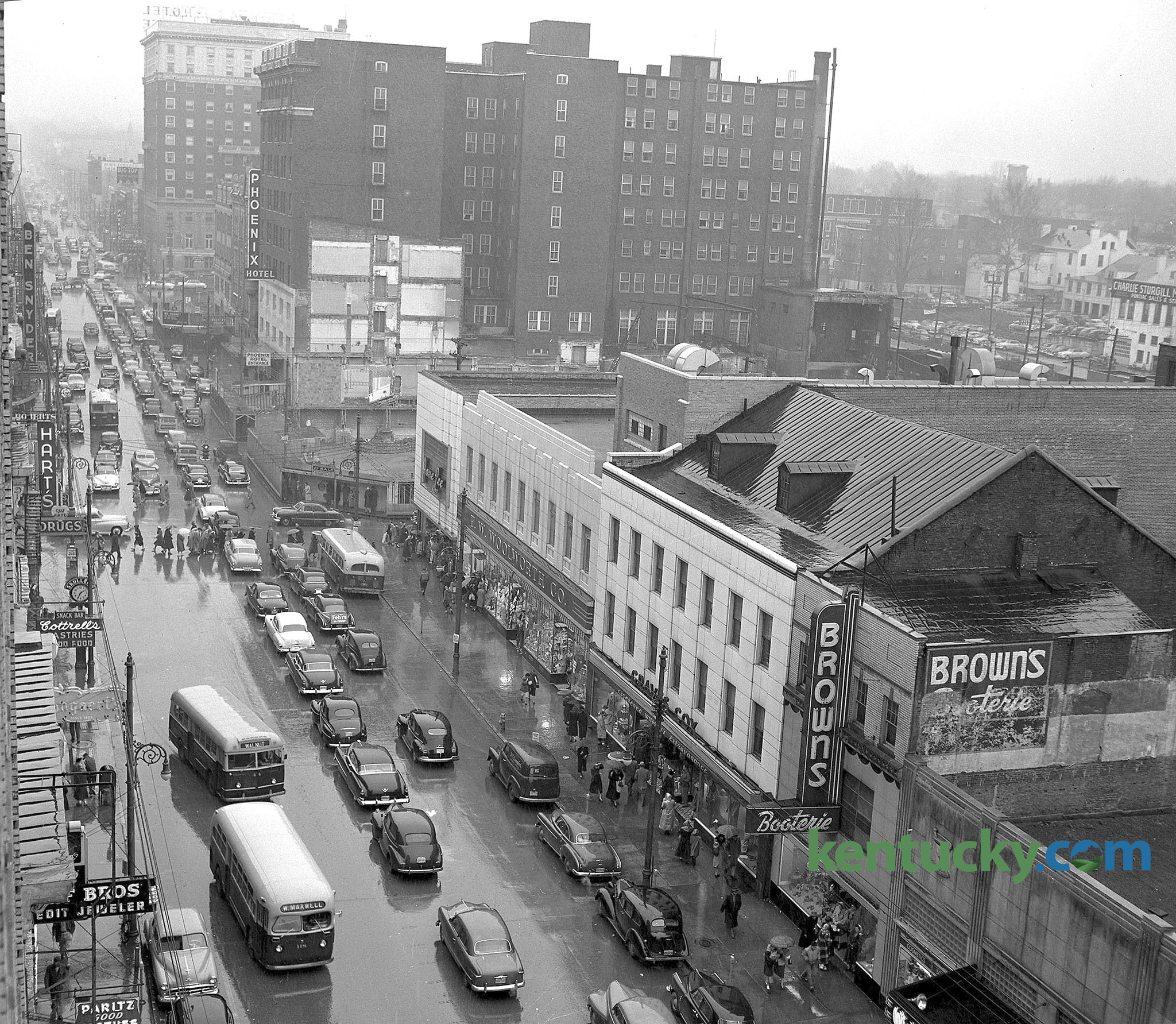 Main Street Lexington 1951 Kentucky Photo Archive