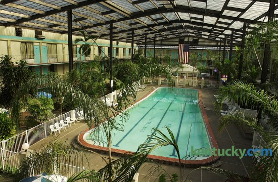 The swimming pool at the Continental Inn on New Circle Rd. in Lexington, Ky. February 14, 2002. After 40 years of business, the iconic 319-room hotel closed in 2005.