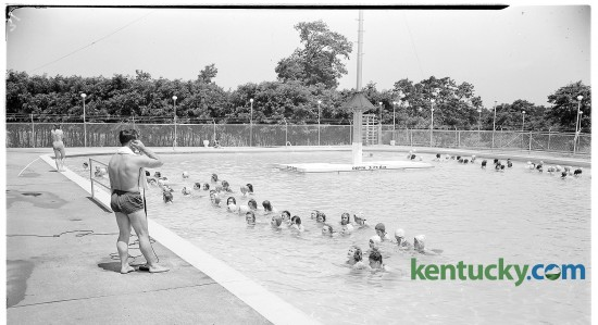 The Herald-Leader sponsored a girls' learn-to-swim course at the Joyland pool in June, 1946. Joyland, once an amusement park on the north side of Lexington, became a bowling alley and a neighborhood.