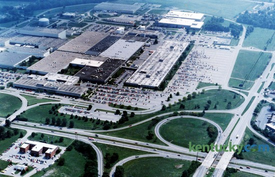 Lexmark, formerly IBM, plant site at New Circle Rd. and Newtown Pike, Aug. 26, 1993. Newtown is on the right and New Circle is at the bottom. Photo by Ron Garrison | Herald-Leader staff