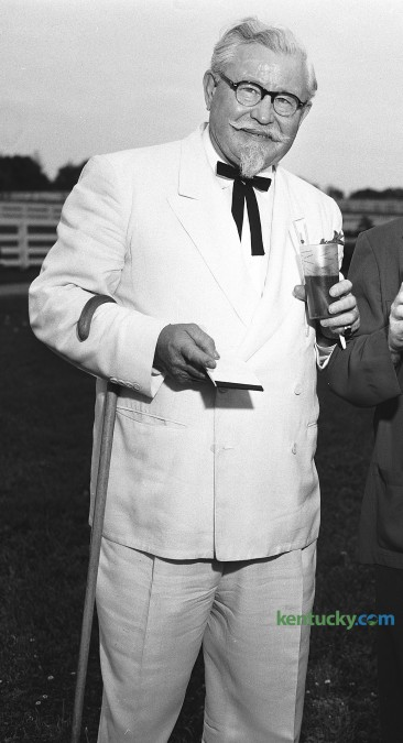 Col. Harland Sanders May 30, 1954. The next year Sanders devoted himself to developing his chicken franchising business. In 1964 he sold his interest in the company for $2 million.