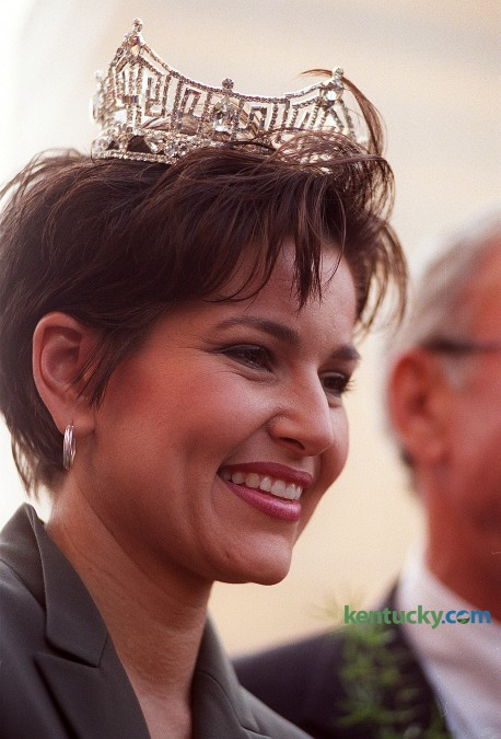 One month after being crowned Miss America, Maysville native Heather Renee French, was paraded through downtown Lexington, Oct. 15, 1999. A year later she married Lt. Governor Steve Henry in Louisville. A new Miss Kentucky will be crowned Saturday, July 12. Photo by Jahi Chikwendiu, Herald-Leader Staff