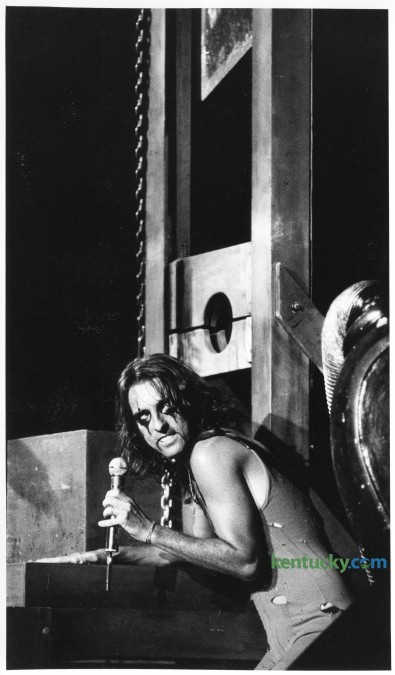 """Rock musician Alice Cooper during his """"School's Out for Summer '78"""" concert tour at Rupp Arena Sunday, June 25, 1978. The group AC/DC opened for Cooper. Photo by Ron Garrison, Herald-Leader staff"""