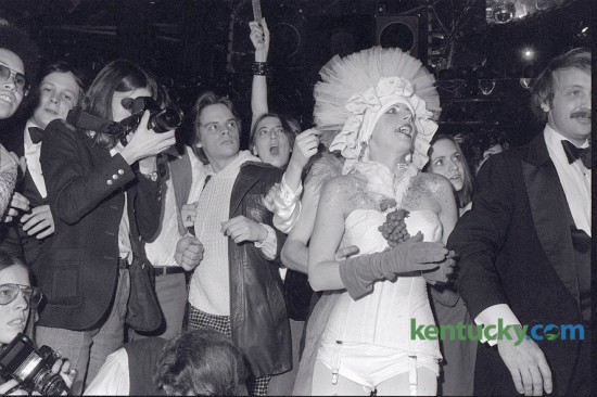 The crowd at Johnny Angel nightclub reacted to Grace Jones taking the  stage December 19, 1978 at the downtown Lexington, Ky., disco. Photo by David Perry | Staff