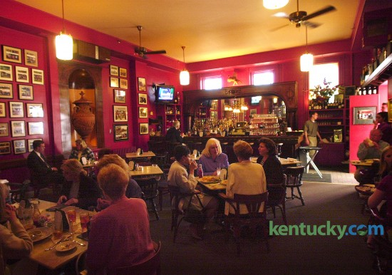 The bar area of iconic Lexington restaurant Dudley's, May 14, 2001. Dudley's was at its Maxwell Street location for 28 years until they moved to its current location on West Short Street, between Mill and Market, in the fall of 2009. Photo by Mark Cornelison | staff