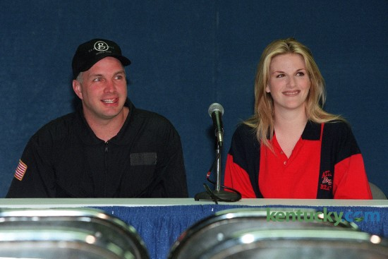 Country music stars Garth Brooks and Trisha Yearwood at a press conference Friday May 15,1998 before their sold-out show at Rupp Arena in Lexington. Photo by Mark Cornelison | staff