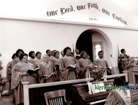The choir of the Zion Baptist Church in Paris, Ky. sang at the morning worship service Sunday February 12, 1984. Photo by John C. Wyatt | Staff