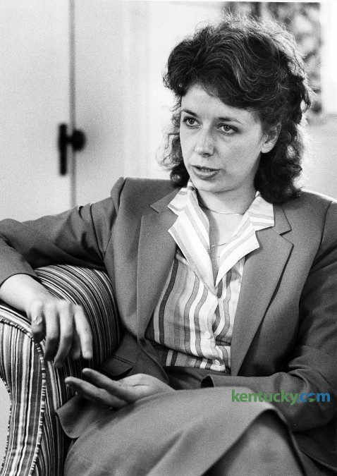 32-year-old Crit Luallen was interviewed May 14, 1984 after being appointed to the post of Arts Commissioner by Gov. Martha Layne Collins. Ealier this month Gov. Steve Beshear appointed Luallen as the state's No. 2 public official to replace Jerry Abramson, who departed to take a job with the White House to help local officials throughout the country. Luallen, who has served with six other Kentucky governors in high positions was elected state auditor twice, serving from 2003-2012. Photo by Ron Garrison   staff