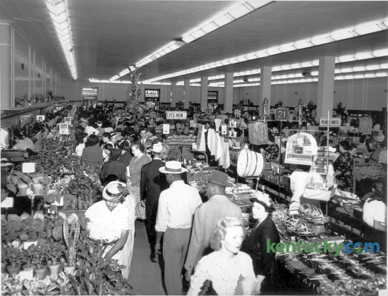 Lexington shoppers crowded the F.W. Woolworth Store on opening day, September 9, 1948. The new downtown store was located at 106-122 West Main Street. The store closed in 1990 and was demolished in 2004 to make way for the Centre Pointe development. Herald-Leader Archive Photo
