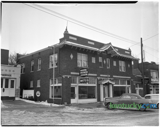 In January of 1942 the Fayette County Agricultural Conservation Association moved into new offices located at 105 Walton Avenue, near the intersection of Walton and East Main Street.  The farm agency moved from the county agent's office in the Federal Building. Published in the Lexington Leader January 13, 1942.