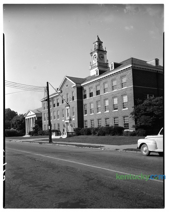 Henry Clay High School, August, 1948. Lexington's oldest public high school opened on Main Street in 1928. In 1970 the school moved to it's current location on Fontaine Road. The Main Street location now houses the main offices of the Fayette County Public Schools system. Herald-Leader archive photo.