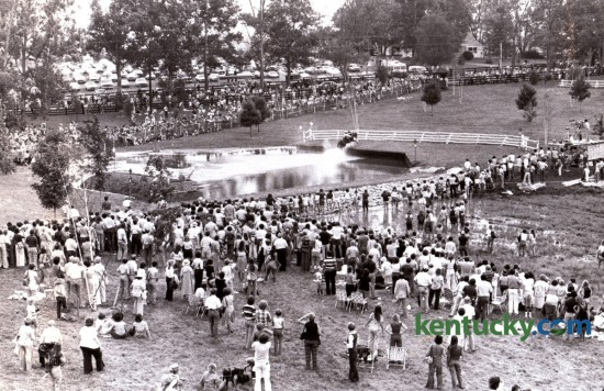 The head of the lake water jump as it looked during the cross country competition during the World Three Day event at the Kentucky Horse Park September 16, 1978. Photo by Christy Porter | Staff