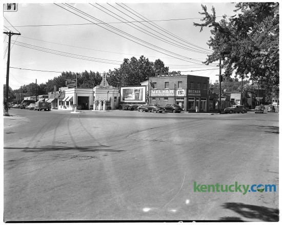 Euclid Avenue Shopping Center in the Lexington neighbordhood Chevy Chase at the intersection of Euclid Ave. and East High Street, June, 1949. Herald-Leader archive photo