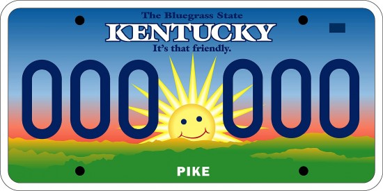 "The Mr. Smiley license plate unveiled by Kentucky Gov. Paul Patton Dec. 27, 2002 was met with discontent and ridicule for the less than two years it was in service. Drivers found ways to distort Mr. Smiley's visage, including drawing a mustache on it, or covering it with a frowning-face sticker or duct tape. State police said that was OK, as long as the letters and numbers on plates are not obscured. Despite widespread critisim of Mr. Smiley, some groups benefited from his unpopularity. Sales of specialty plates skyrocketed in 2003, even though drivers have to pay more for them. Beginning Jan. 1, 2005, the sunshine plates were replaced by the ""Unbridled Spirit"" tags currently being used."
