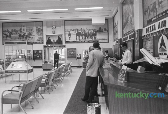 A photo of the terminal at what was then called Blue Grass Field, was one of the pictures featured in a story by Herald-Leader reporter Ronnie Thompson in 1966. Thompson wrote about the Lexington airport's high ranking in airport operations. Later that year in October, Eastern Air Lines announced it would launch non-stop jet flights to New York City. Published in the Lexington Herald January 16, 1966. Herald-Leader Archive Photo