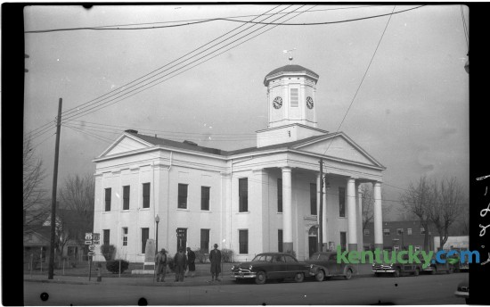 The Harrison County Courthouse in Cynthiana in January of 1951. The photo ran with a feature story by J. Frank Adams about Cynthiana, Ky. on January 7, 1951. Herald-Leader. Herald-Leader Archive Photo
