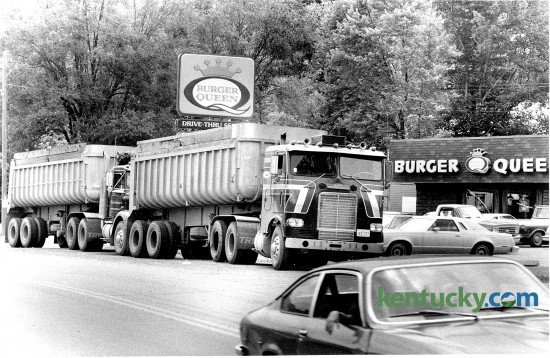 The Burger Queen in Pineville was a popular lunch spot, including two coal trucks that stopped in on June 24, 1980. Photo by David Perry | Staff