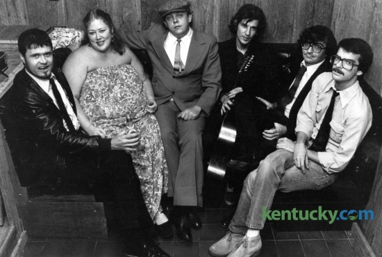 An early version of the popular Kentucky-based band the Metropolitian Blues Allstars, which in October 1982 included, from left, Rodney Hatfield, Wanda Thompson, Nick Stump, Frank Schaap, Steve Lyon and Stewart Miller. Photo by Ron Garrison | Staff