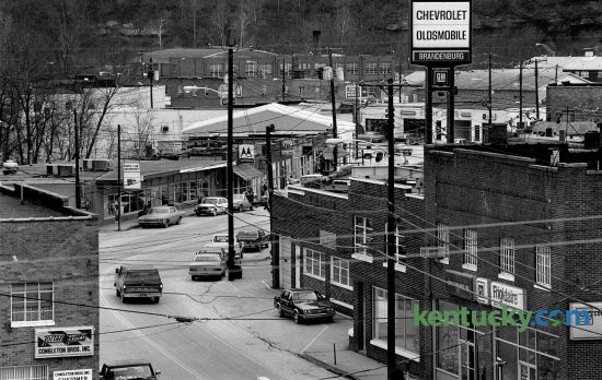 Downtown Beattyville in Lee County as seen on January 8, 1987. Photo by Charles Bertram | Staff