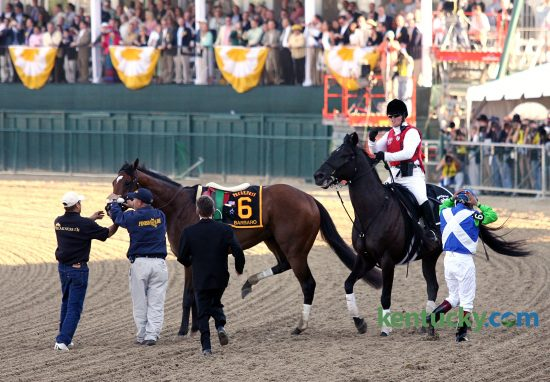 Help was on the way shortly after Barbaro broke down during the early stages of the Preakness Stakes-G1 at Pimlico Race Course in Baltimore, Md. on May 20, 2006.
