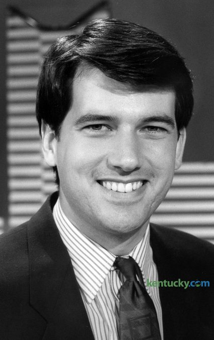 WLEX-18's Marvin Bartlett, May 31, 1990. Bartlett started at WLEX in 1987, starting as a reporter then working his way up to weekend anchor and then mornign anchor. Currently he is the co-anchor for the Fox 56 Ten O'clock News, a role he has held since its start on January 2, 1995. Bartlett was named one of America's Top 100 Bachelors by People magazine in 2000. He got married in 2004. Photo by Clay Owen | staff file photo