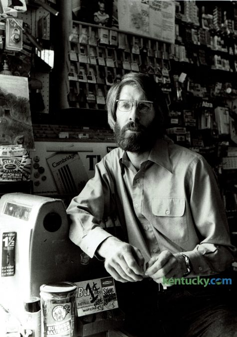 Don Pratt inside his Woodland Grocery store at the corner of Woodland Ave and East High Street on May 15, 1980. Pratt operated Woodland Grocery on East High Street from 1975 to February 1982. He reopened Woodland Grocery on Walton Ave in April 1982 and stayed in business until deciding to close May 1, 1998. Pratt, a well-know local political activist is currently recovering at University of Kentucky Chandler Medical Hospital after being hit by a car last Friday while riding his scooter. Photo by Christy Porter   Staff