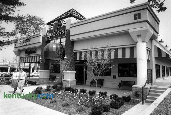 Applebee's restaurant, the the first business to open at French Quarter Square on Richmond Road, Aug. 8, 1988. This location, operated by Lexington restaurant management company Thomas and King Inc., was the nation's leading Applebee's restaurant for many years, Adam Edelen, a spokesman for Thomas & King said in 2007. A shortage of parking and the landlocked location prohibited growth after a certain point so it later moved down Richmond Road on the on the vacant Lexington Mall property, opeing a new flagship location Sept. 2007. On Aug. 15, 2016, RMH Franchising, which in 2013 bought more than 80 Applebee's Grill and Bar franchises from Thomas & King, announced the location on the former Lexington Mall property, now Southland Christian Church, will close. Photo by Charles Bertram | staff
