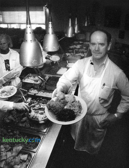 Max Flannery, owner of Max's Loudon Square Buffet on North Broadway in Lexington, February, 20, 1990. The cult restaurant, which has thrived for 42 years, is known for its rabid followers. Photo by Michael Clevenger