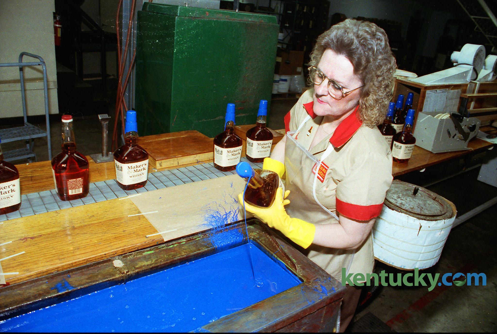 Maker's Mark dipped in Wildcat-blue wax, 1993 | Kentucky